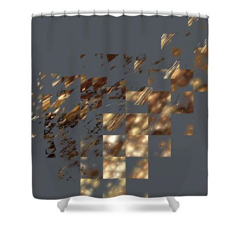 bronze shower curtain bronze on gray square shower curtain from fine art america