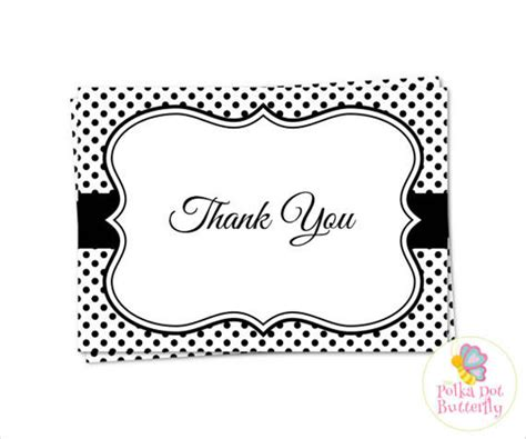 70 Thank You Card Designs Free Premium Templates Thank You Card Template Black And White