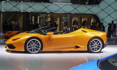 Orange Lamborghini Convertible Solar Power High Performance Convertibles For Summer