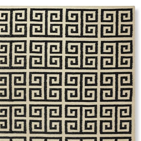 key pattern rug key kilim rug antique white williams sonoma
