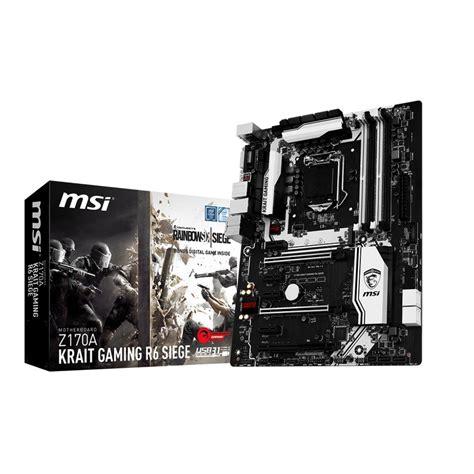 Msi Z170a Krait Gaming 3x Socket 1151 msi z170a krait gaming r6 siege carte m 232 re msi sur ldlc