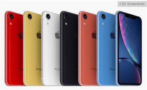 iphone xr colours 3d model turbosquid 1381369