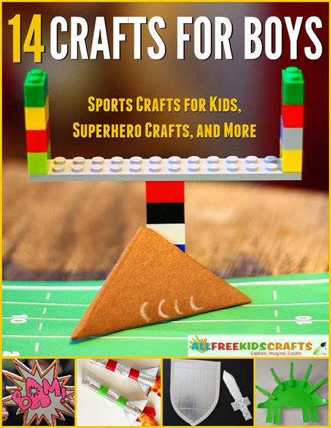 crafts and more 14 crafts for boys sports crafts for