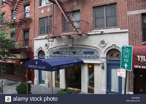 greenwich funeral home in new york city stock