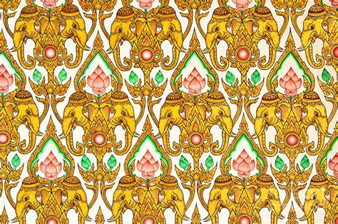 thai design thai pattern design painting by phalakon jaisangat