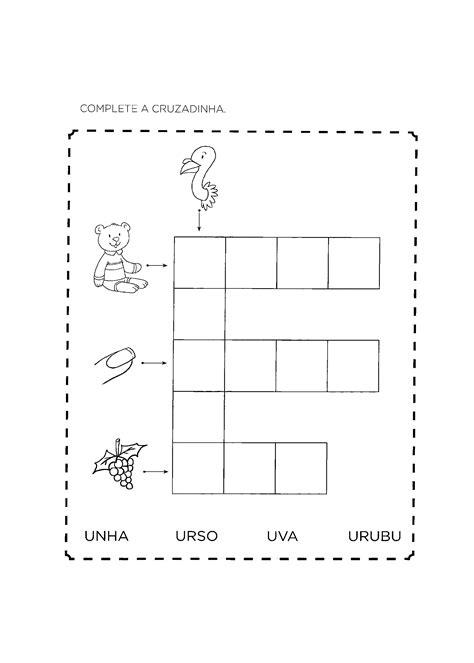 Atividades com a Letra U para alfabetização - Só Atividades