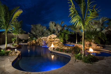 tropical modern caribbean lagoon pool lucas lagoons