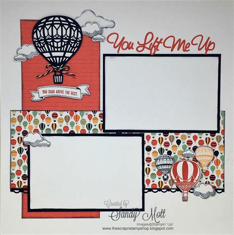 layout for scrapbook lift me up bundle stin up scrapbook page created