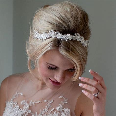 Wedding Hair Accessories Not On The High by Floral Wedding Headband By Debbie Carlisle