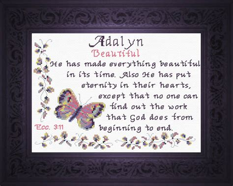 Wedding Blessing Meaning by Name Blessings Adalyn Personalized Names With Meanings