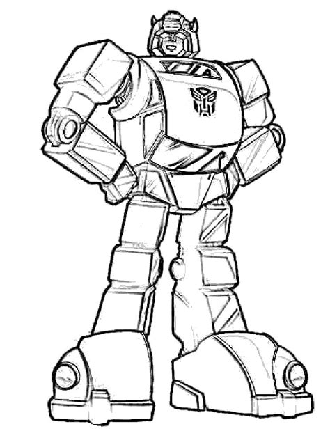 Easy Transformer Coloring Page | bumblebee transformers coloring for kids crafts for kids