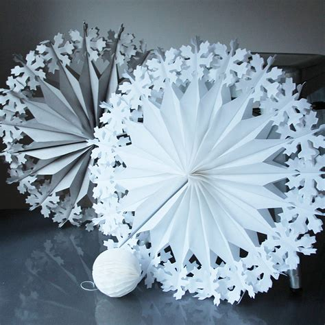 paper luxe supersize snowflake decorations by pearl and earl notonthehighstreet com
