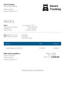 invoice template for trucking company eight to a rock solid trucking invoice rts financial