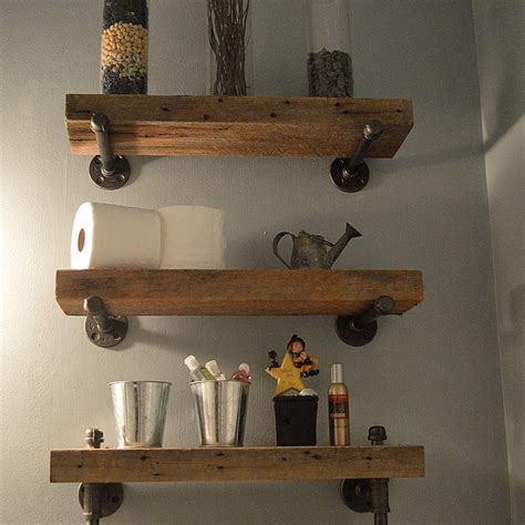rustic bathroom hardware first then decor ideas then open barn wood shelving rustic