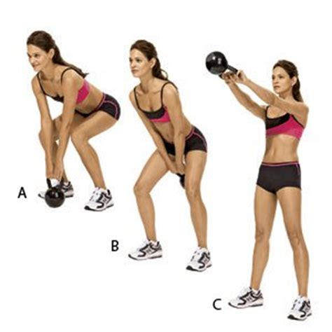 how to kettlebell swing kettlebell swing women s health