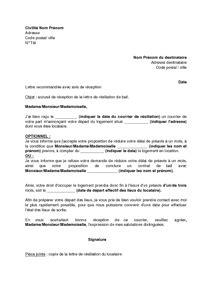 Résiliation De Bail Par Propriétaire Lettre Type Exemple Gratuit De Lettre Accusant R 233 Ception R 233 Siliation