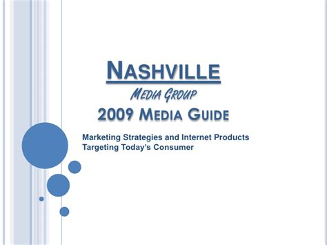 Nmg Ppt Media Kit 2009 2 Media Kit Template Powerpoint