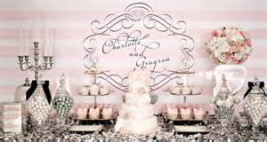 Engagement Party At Home Decorations pink and silver dessert table pretty my party