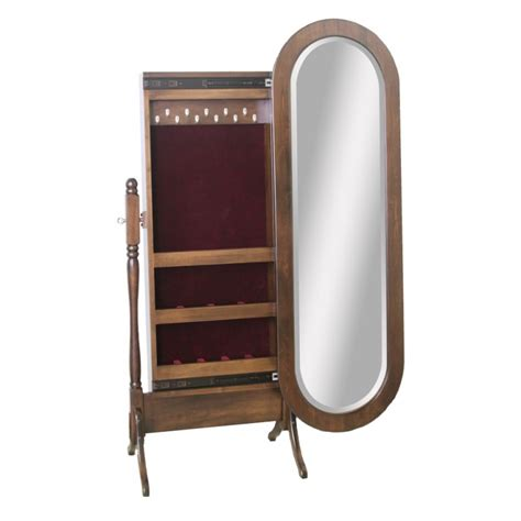 oval mirror jewelry armoire lexington oval jewelry cheval mirror amish lexington