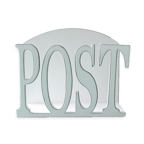 White Wooden Letter Rack by Quot Post Quot Wooden Letter Holder White Wash 16x13x6cm