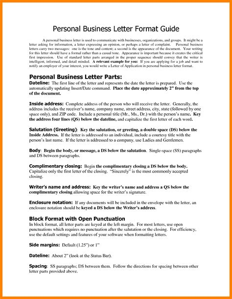Business Letter Format Enclosure block letter format business the cover proper business
