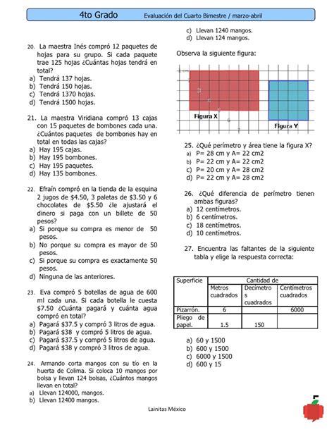 guia de laboratorio 5 grado todas las materias 4to grado bimestre 4