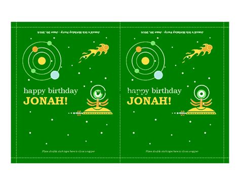 birthday party candy wrappers microsoft publisher