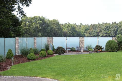 Glastrennwand Garten