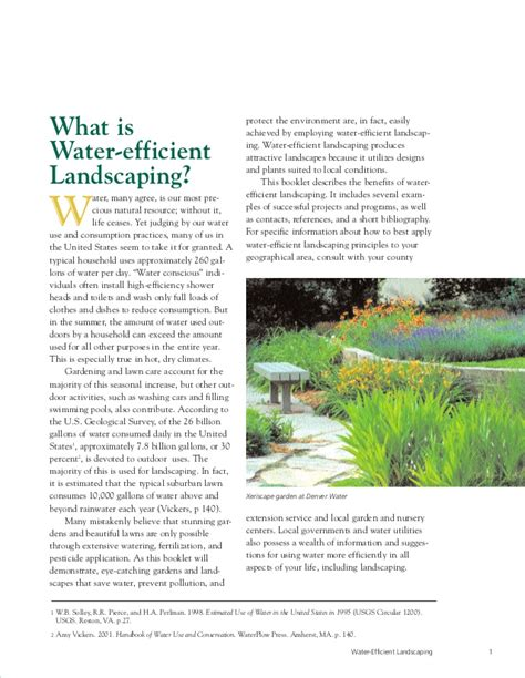 water efficient landscaping water efficient landscaping preventing pollution and
