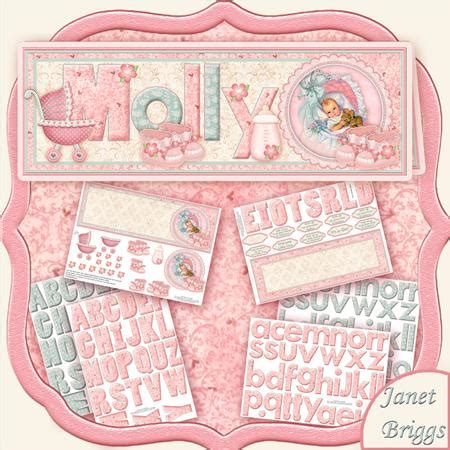 Decoupage Card Kits - create any name baby card kit decoupage cup422369