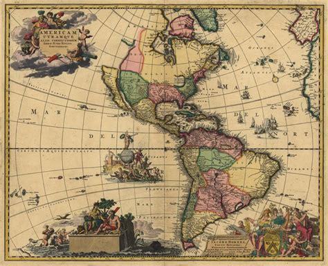 imagenes vintage mapas old antique map of north south america tattoo art
