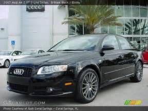 brilliant black 2007 audi a4 2 0t s line sedan
