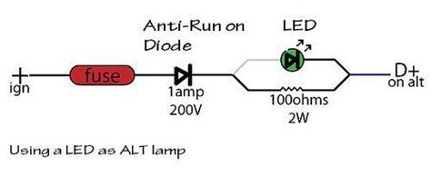 led resistor for 230v thesamba kit car fiberglass buggy view topic alternator voltage meter