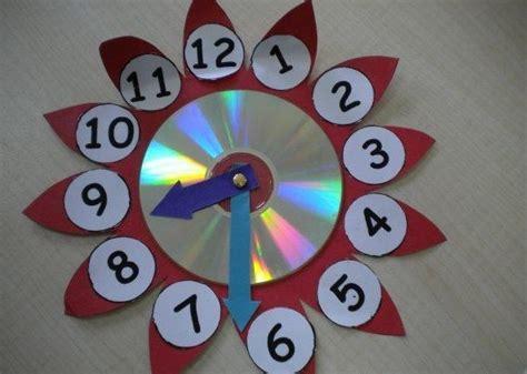 clock craft project cd clock project 171 preschool and homeschool