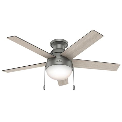 low profile ceiling fan anslee 46 in indoor low profile matte silver