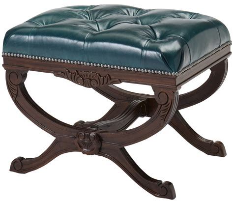 Tufted Ottoman Stool Tufted Leather Ottoman Stool