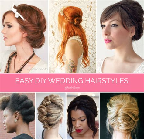 wedding guest hairstyles diy braids twists and buns 20 easy diy wedding hairstyles
