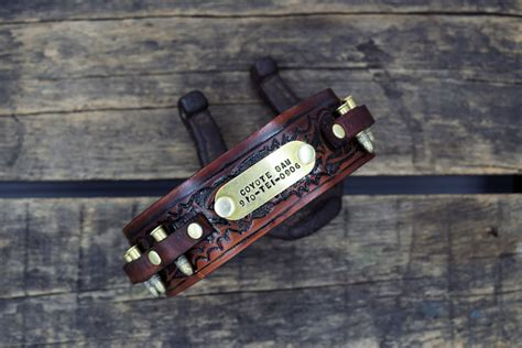 gun names for dogs the real mccoy leather collar personalized name gun belt
