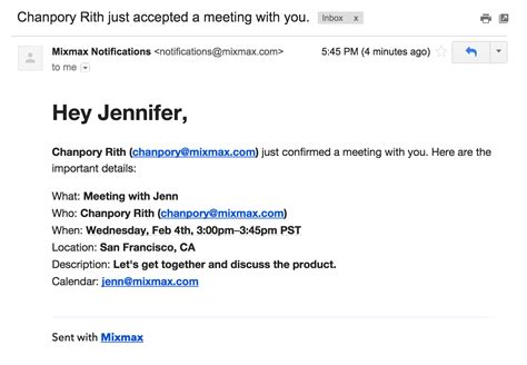 email template to schedule a meeting feature spotlight instant scheduling mixmax