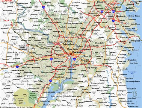 washington dc map of cities washington map by city