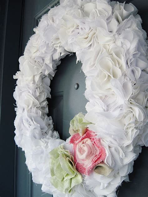 diy wreaths 8 best images about recycled bed sheets on pinterest
