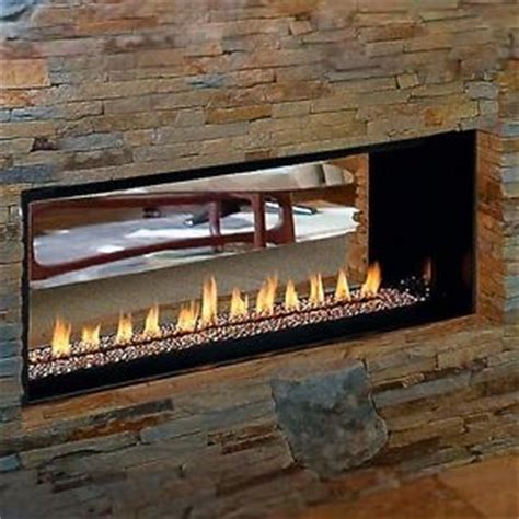 fmi modern linear vent free gas fireplace lights two