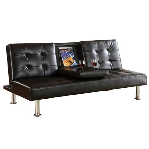 Sears Futon Sofa by Venetian Worldwide Orinda Leatherette Futon Sofa