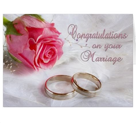 Wedding Congratulations Formal by 8 Marriage Greeting Cards Designs Templates Free