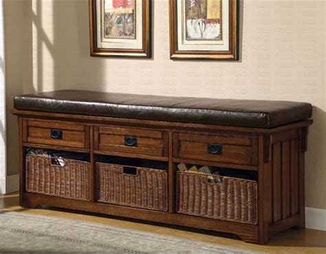 furniture storage bench dark oak storage bench benches