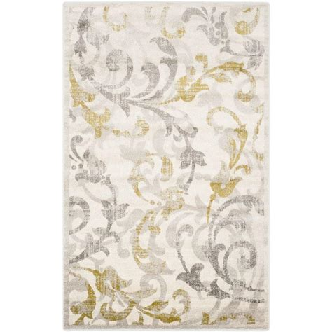 Ivory And Gray Area Rug Safavieh Amherst Ivory Light Gray 5 Ft X 8 Ft Indoor Outdoor Area Rug Amt428e 5 The Home Depot