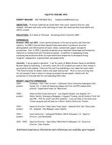 Swim Coach Sle Resume by Activity Instructor Resume Sales Instructor Lewesmr