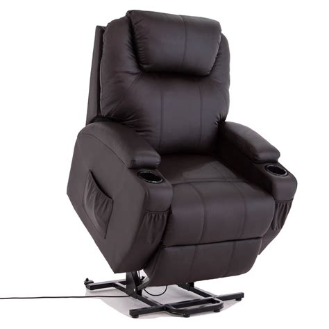 Wall Hugger Lift Chair by Brown Power Lift Chair Real Leather Recliner Armchair Wall
