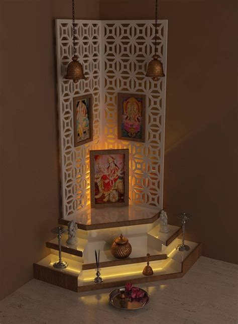 Interior Design Mandir Home 271 Best Pooja Room Design Images On Pinterest Pooja Rooms Prayer Room And Hindus