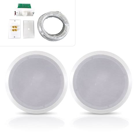 Ceiling Speaker Wire by Pylehome Phskit8 Home And Office Speakers Sound